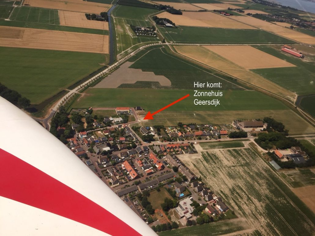 Luchtfoto kabel zonnehuis Geersdijk